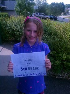 Introducing the 5th Grader!  She hopes to be an actress and singer one day.
