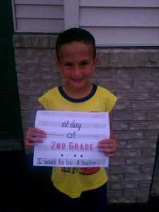 Introducing the 2nd Grader, Jacob! He wants to be a Doctor when he grows up.